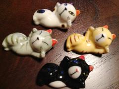 静岡のおみやげ くつろぐ可愛い猫の箸置き