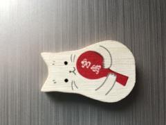 広島のおみやげ 宮島 猫のマグネット