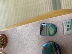 徳島のおみやげ 鳴門海峡ピンバッチ