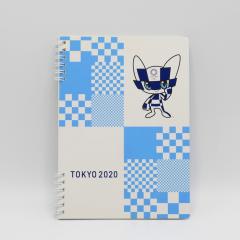 東京のおみやげ 2020 A5Wリングノート マスコット ブルー