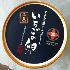 福岡のおみやげ あまおう苺入りチョコレート いちごの卵 茶色チョコ