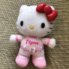兵庫のおみやげ 阪神タイガース ぬいぐるみマスコット キティ
